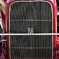1930 Red Ford Model A-grill-8885 by Gary Gingrich Galleries