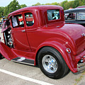 1930 Red Ford Model A-rear-8902 by Gary Gingrich Galleries