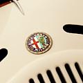 1931 Alfa Romeo 6c 1750 Gran Sport Aprile Spider Corsa Hood Emblem by Jill Reger