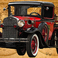1931 Ford Model A Fire Truck by William Mace