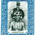 1932 Papua New Guinea Native Dandy Postage Stamp by Retro Graphics