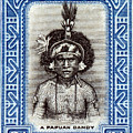 1932 Papuan Dandy Stamp by Historic Image