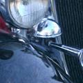 1933 Dodge Headlights And Horn by Susan  Lipschutz