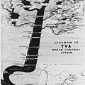 1933 Tennessee Valley Authority Map by Daniel Hagerman