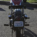 1934 Ariel Motorcycle Rear View by Robert Torkomian