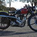 1934 Ariel Motorcycle Side View by Robert Torkomian