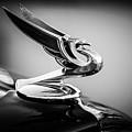 1935 Chevrolet Sedan Hood Ornament -0116bw by Jill Reger