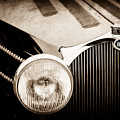 1936 Bugatti Type 57s Corsica Tourer Grille Emblem -1673s by Jill Reger
