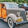 1936 Ford V8 Woody Station Wagon by Carol Montoya