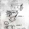 1936 Toilet Bowl Patent Antique by Bill Cannon