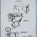 1936 Toilet Bowl Patent Antique Gray by Bill Cannon