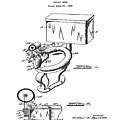 1936 Toilet Bowl Patent by Bill Cannon