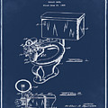 1936 Toilet Bowl Patent Blue by Bill Cannon