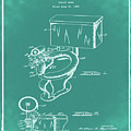 1936 Toilet Bowl Patent Green by Bill Cannon