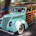 1937 Green Woody Automobile by Bob Slitzan