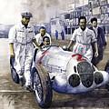 1937 Italian Gp Mercedes Benz W125 Rudolf Caracciola by Yuriy Shevchuk
