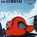 1937 Switzerland Grand Prix Racing Poster by Retro Graphics