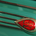 1938 Lincoln Zephyr Convertible Sedan Emblem by Jill Reger