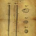 1939 Baseball Bat Patent by Dan Sproul