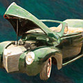 1940 Mercury Convertible Vintage Classic Car Painting 5235.03 by M K Miller