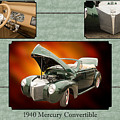 1940 Mercury Convertible Vintage Classic Car Painting 5238.02 by M K  Miller