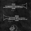 1940 Trumpet Patent Illustration by Dan Sproul