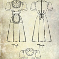 1940 Waitress Uniform Patent by Jon Neidert