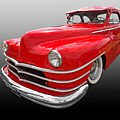 1940s Custom Chrysler New Yorker In Red by Gill Billington