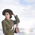1940s Woman At The Seaside  by Lee Avison