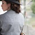 1940s Woman Making A Journey On Public Transport by Lee Avison
