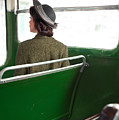 1940s Woman On A Bus by Lee Avison