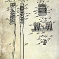 1941 Toothbrush Patent  by Jon Neidert
