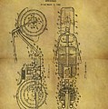 1942 Chopper Motorcycle Patent by Dan Sproul