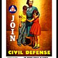 1942 Civil Defense Poster By Charles Coiner by Peter Gumaer Ogden
