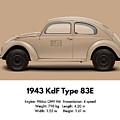 1943 Kdf Type 83e - Sand by Ed Jackson
