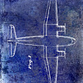 1945 Transport Airplane Patent Blue by Jon Neidert