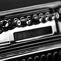 1947 Cadillac Radio Black And White by Jill Reger