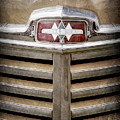 1948 International Hood Emblem -0227ac by Jill Reger