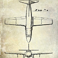 1949 Airplane Patent Drawing by Jon Neidert