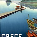 1949 Corfu Greece Travel Poster by Retro Graphics