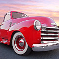 1950 Chevy Pick Up At Sunset by Gill Billington