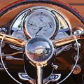 1950 Oldsmobile Rocket 88 Steering Wheel 2 by Jill Reger