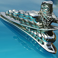 1950 Woodie Wagon One Of A Kind Hood Ornament 2 by Jill Reger