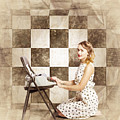 1950s Fictional Pinup Writer by Jorgo Photography - Wall Art Gallery