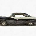 1950s Ford Fairlane Crown Victoria Pencil by Edward Fielding