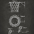 1951 Basketball Net Patent Artwork - Gray by Nikki Marie Smith
