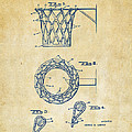 1951 Basketball Net Patent Artwork - Vintage by Nikki Marie Smith