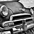 1951 Chevrolet Power Glide Black And White 3 by Lisa Wooten