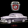 1951 Ford Two Door Sedan Tee Shirt Art by Jack Pumphrey