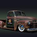 1951 Rusty Chevrolet Pickup Truck by Nick Gray